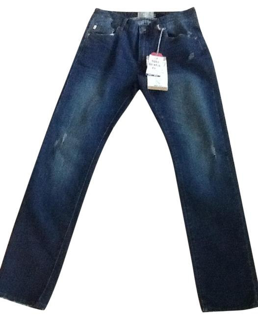 Preload https://img-static.tradesy.com/item/23939957/blue-distressed-stretch-straight-leg-jeans-size-32-8-m-0-1-650-650.jpg
