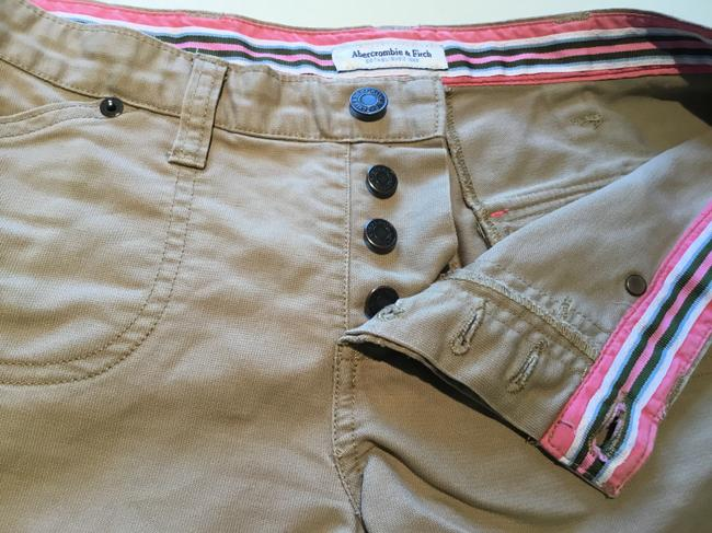 Abercrombie & Fitch Mini/Short Shorts Beige Image 2