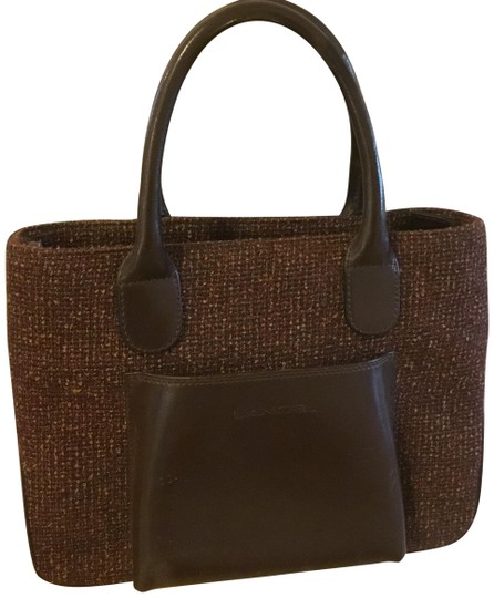 Preload https://img-static.tradesy.com/item/23940056/lancel-tweed-brown-beige-cloth-tote-0-1-540-540.jpg