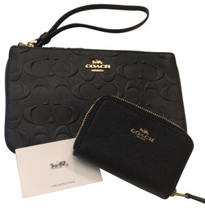 Coach Black 2 piece set. Clutch