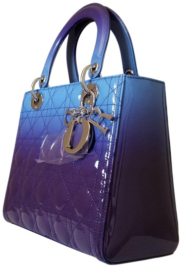 Preload https://img-static.tradesy.com/item/23940210/dior-lady-dior-medium-gradient-purple-and-blue-patent-leather-tote-0-1-540-540.jpg