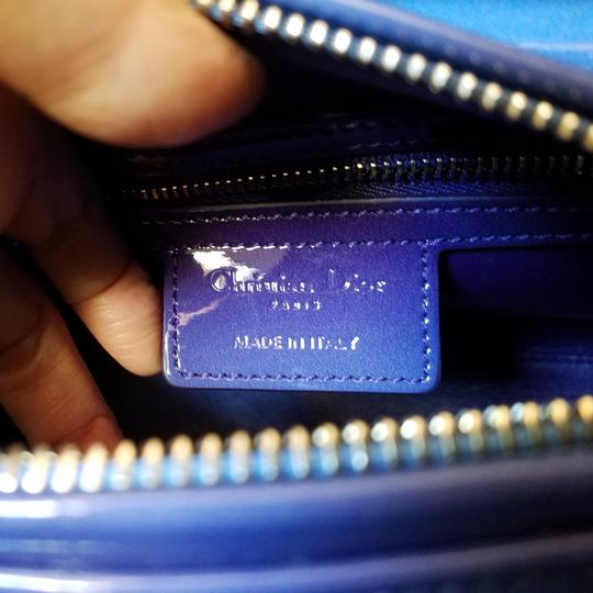 Dior Lady Lady Purse Lady Lady Medium Lady Patent Tote in Gradient purple and blue Image 3