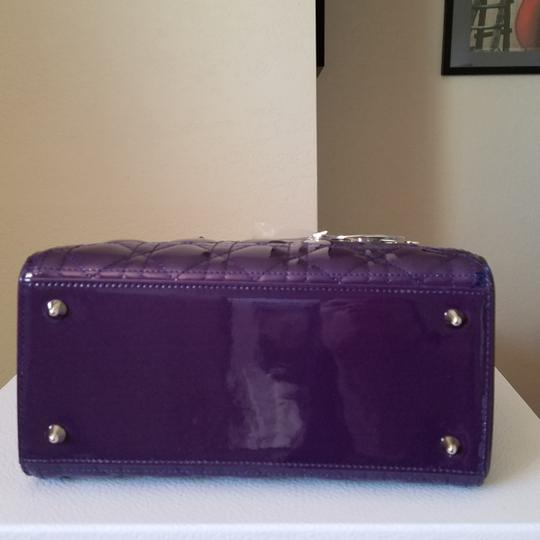 Dior Lady Lady Purse Lady Lady Medium Lady Patent Tote in Gradient purple and blue Image 5