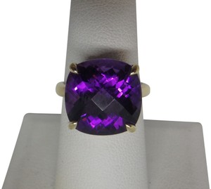 Tiffany & Co. 18k yellow gold with 8.5 carats Amethyst sparkler ring size 7.25
