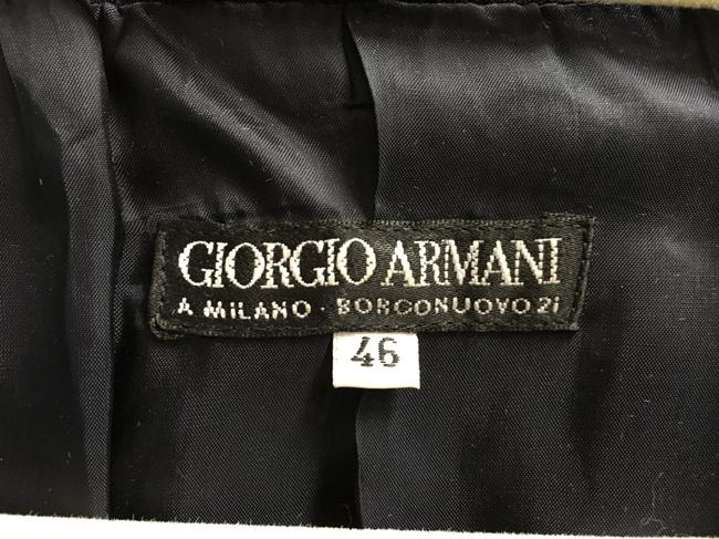 Giorgio Armani Dark Double Breasted Long Sleeved Lined Made In Italy Brown Blazer Image 2