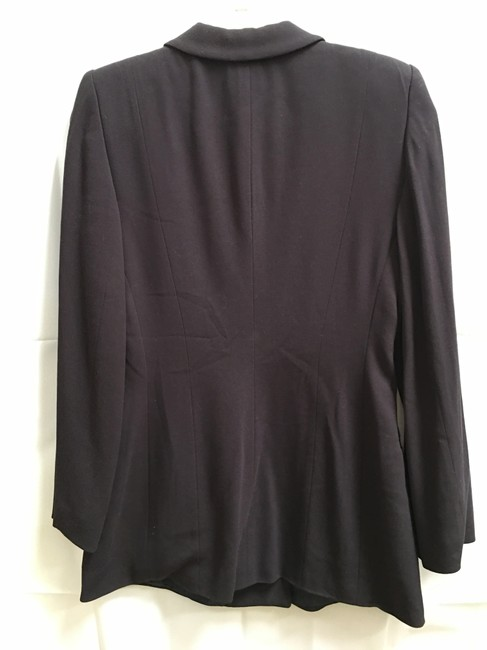 Giorgio Armani Dark Double Breasted Long Sleeved Lined Made In Italy Brown Blazer Image 3