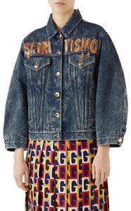 Gucci Marmont Soho Guccissima Alessandro Retro Denim Womens Jean Jacket