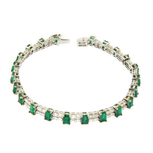 unbranded Colombian 7.30 CT Natural Emerald & 2.02 CT Diamonds 18K White Gold Image 2