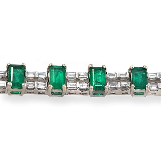 unbranded Colombian 7.30 CT Natural Emerald & 2.02 CT Diamonds 18K White Gold Image 3