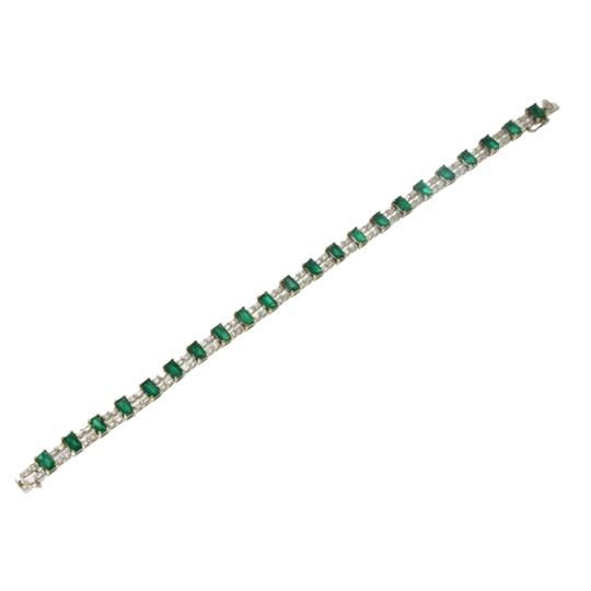 unbranded Colombian 7.30 CT Natural Emerald & 2.02 CT Diamonds 18K White Gold Image 4