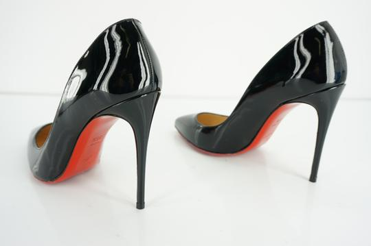 Christian Louboutin Red Sole Stilletto Formal Party Black Pumps Image 1