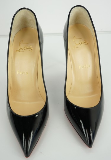 Christian Louboutin Red Sole Stilletto Formal Party Black Pumps Image 10
