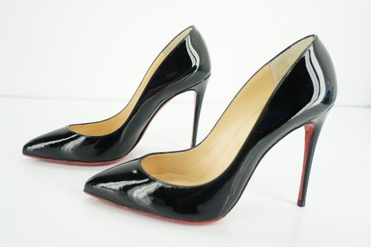 Christian Louboutin Red Sole Stilletto Formal Party Black Pumps Image 2