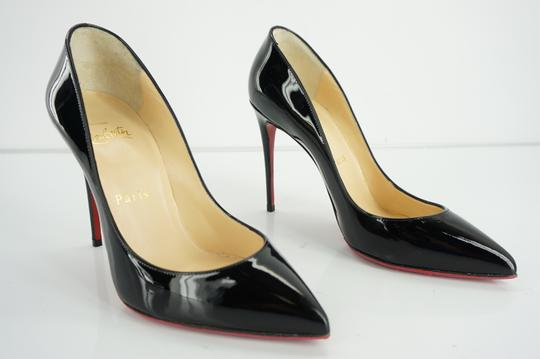 Christian Louboutin Red Sole Stilletto Formal Party Black Pumps Image 3