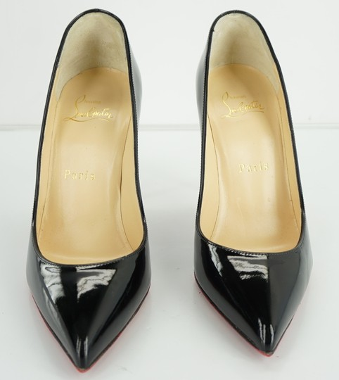 Christian Louboutin Red Sole Stilletto Formal Party Black Pumps Image 4