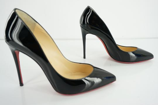 Christian Louboutin Red Sole Stilletto Formal Party Black Pumps Image 5