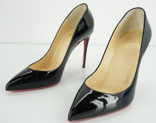 Christian Louboutin Red Sole Stilletto Formal Party Black Pumps Image 8