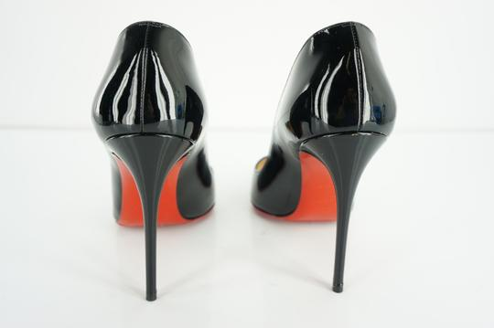 Christian Louboutin Red Sole Stilletto Formal Party Black Pumps Image 9