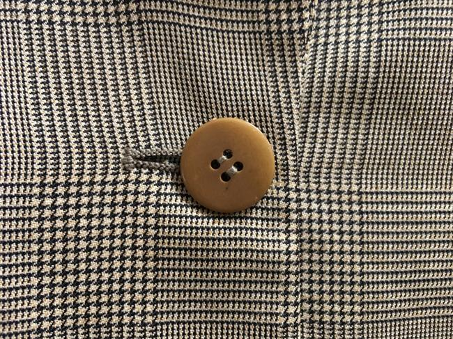 Giorgio Armani 3 Front Pockets Long Sleeved Wool Silk Blend Made In Italy Brown Plaid Blazer Image 3