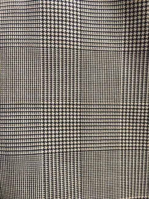 Giorgio Armani 3 Front Pockets Long Sleeved Wool Silk Blend Made In Italy Brown Plaid Blazer Image 5