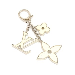 Louis Vuitton Louis Vuitton Fleur d'Epi White x Silver Tone Key Chain / Bag Charm
