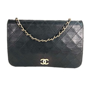 Chanel Vintage Leather Classic Convertible Clutch