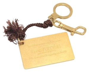 Louis Vuitton Louis Vuitton Gold-Tone Inventeur Plate Key Chain