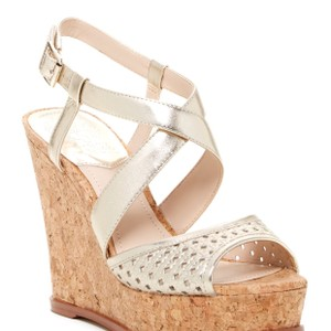 Vince Camuto gold Wedges