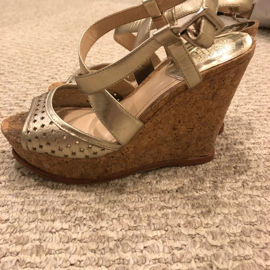 Vince Camuto gold Wedges Image 4