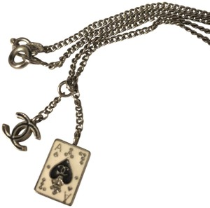 Chanel Chanel Chain Necklace with Enamel Ace is Spades and CC Logo