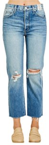 AMO Loverboy Distressed Capri/Cropped Denim-Distressed
