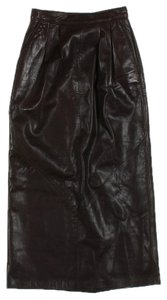 Bovines Adventure Wear Classic Leather Skirt brown