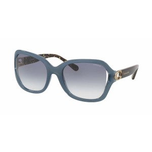 6bc814fc656b Coach New AUTHENTIC Coach HC8238 552179 57mm Milky Blue Blue sunglasses