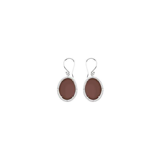 Preload https://img-static.tradesy.com/item/23941080/brown-sterling-silver-chalcedony-and-cubic-zirconia-3016-ct-earrings-0-0-540-540.jpg