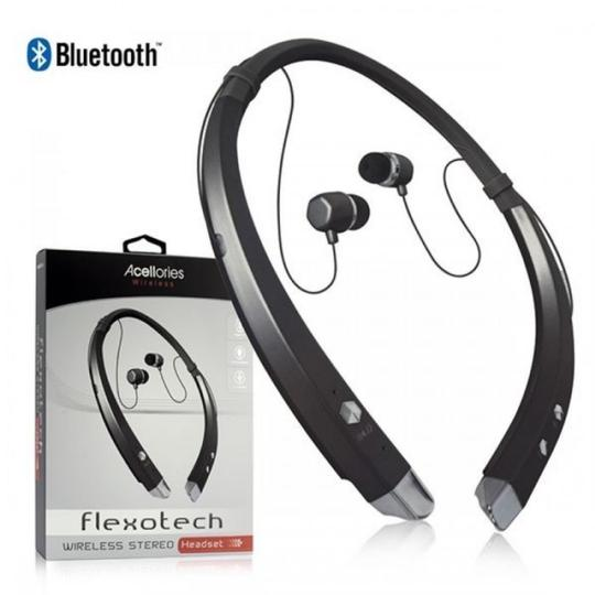 None ACELLORIES FLEXOTECH WIRELESS BLUETOOTH STEREO HEADSET-BLACK Image 0