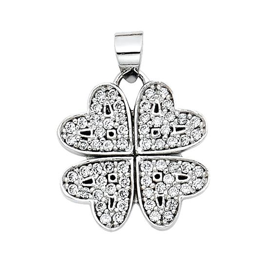 Preload https://img-static.tradesy.com/item/23941395/white-gold-14k-four-hearts-cz-pendant-charm-0-0-540-540.jpg