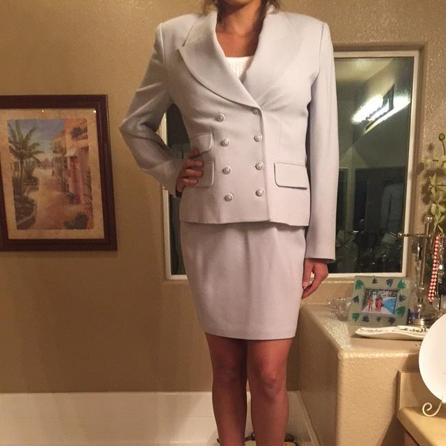 Rina Rossi Tina Rossi Baby Blue Skirt Suit. Image 3