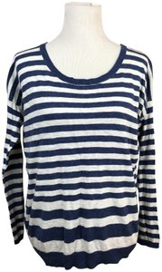 Vince Cotton Striped Longsleeve Sweater