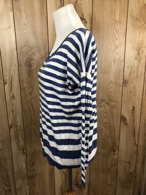 Vince Cotton Striped Longsleeve Sweater Image 1
