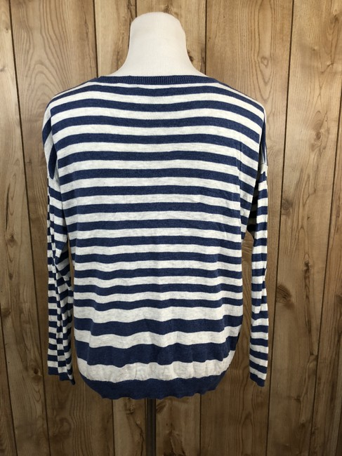 Vince Cotton Striped Longsleeve Sweater Image 2