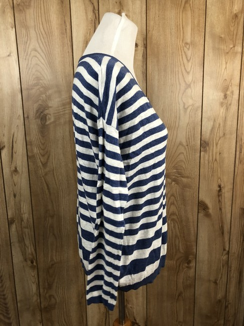 Vince Cotton Striped Longsleeve Sweater Image 3