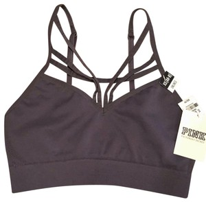 4447d69021b243 PINK Gray Victoria s Secret Unlined Strappy Bralette Activewear ...