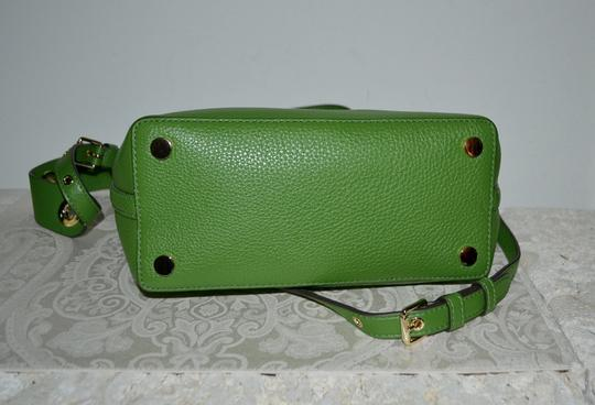 Michael Kors Leather Tassel Rivets Satchel in Green Image 4