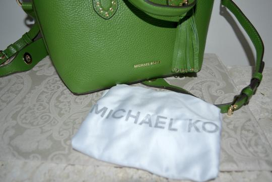 Michael Kors Leather Tassel Rivets Satchel in Green Image 6