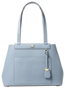 Michael Kors Leather Pale Tote in Blue