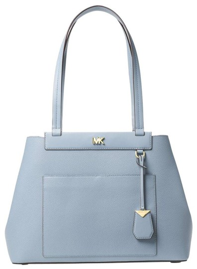 Michael Kors Leather Pale Tote in Blue Image 0