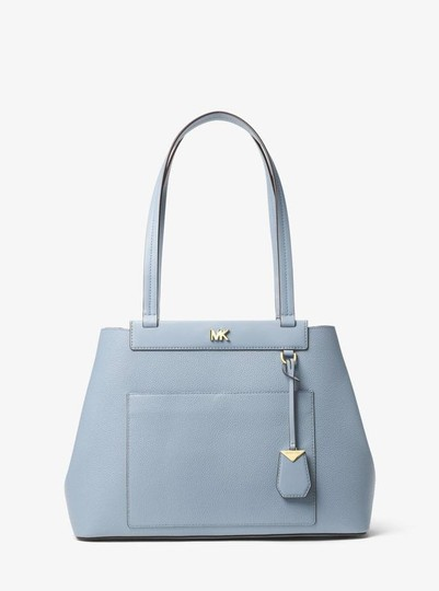 Michael Kors Leather Pale Tote in Blue Image 11
