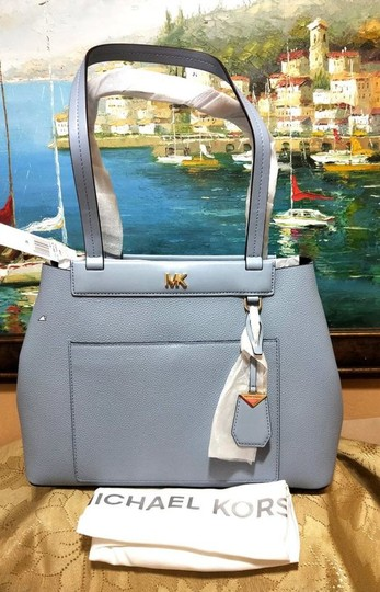 Michael Kors Leather Pale Tote in Blue Image 8