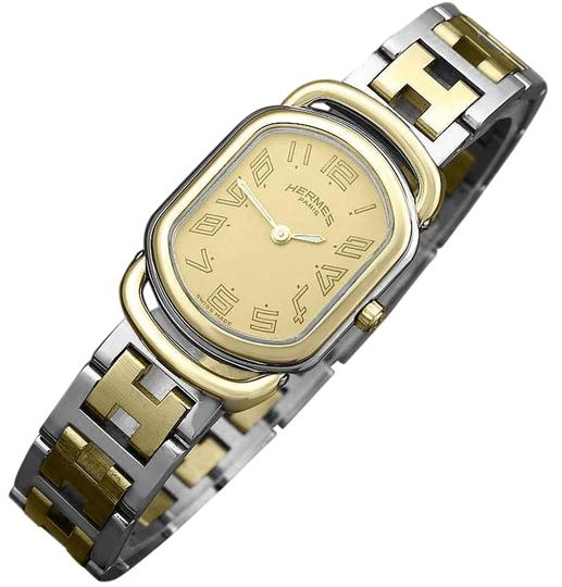 Hermès Hermes Rallye Ladies Bracelet Watch - 18K Gold Plated and Stainless St Image 0