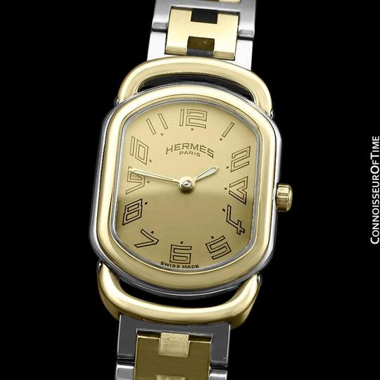 Hermès Hermes Rallye Ladies Bracelet Watch - 18K Gold Plated and Stainless St Image 1